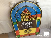 Leffe hanging sign