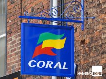 coral wall sign