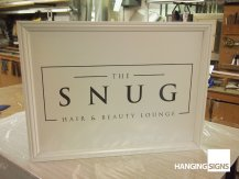 traditional sign board the snug