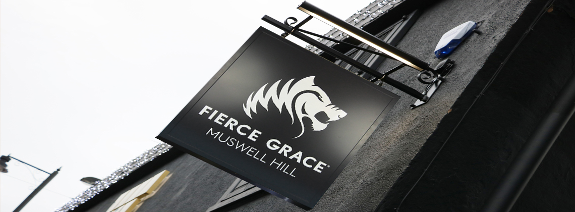 contemporary swing sign projection sign